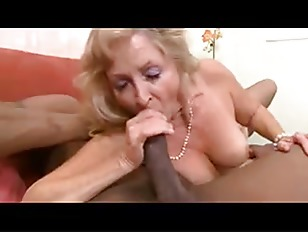 Picture Fit Blonde Granny In Stockings