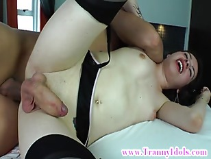 Tranny amateur sucks dick befo