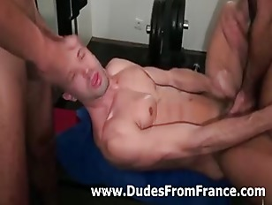 French gay guy blasted with cu