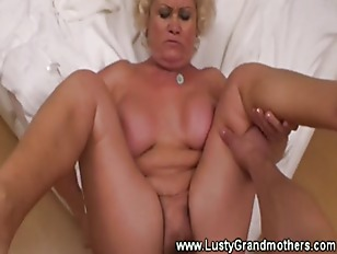 Old granny with hairy clit lov