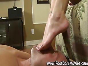 Foot worship femdom fetish pla