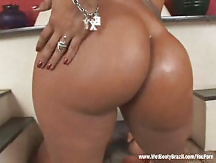 Picture Tanned Brazilian Babe Gets Ass Plowed