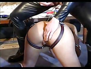 ebony slave anal