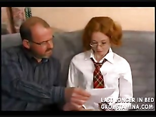 Young French girl learns how to fuck