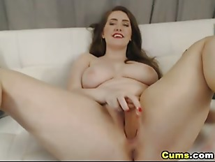 Picture Dildo In Her Ass While She Fingers Her Cunt