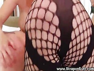 Sexy babes punish weak male as