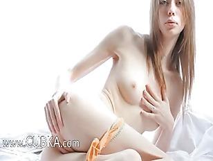 White ultra skinny girl teasin