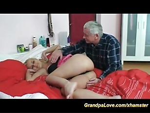 horny grandpa loves blonde dol
