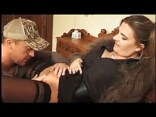 brunette milf DP in hunters ho