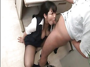 jap big boobs OL sucking in of
