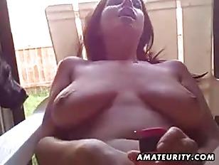 Busty amateur girlfriend toys