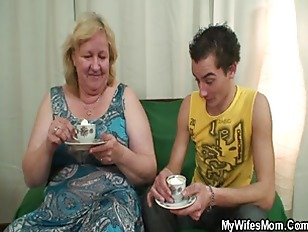 Huge granny is banged by her s