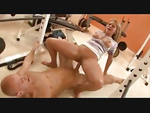 Picture Blonde Woman With Her Trainer