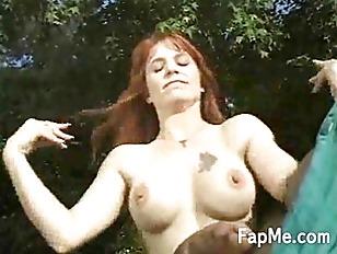 Sexy redhead jerking off a lar