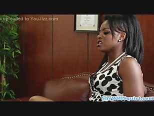 Picture Squirting Ebony Babes Make Guys Office Messy