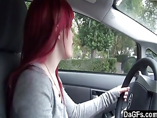 Picture Redhead Emo Showing Tits In Car