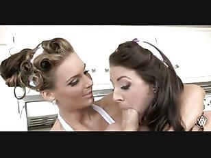 Angela White and Phoenix Marie making some milk shake