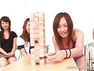 Sweet asian teen girls playing