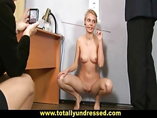 Picture Shocking Nude Job Interview For Sweet Blonde