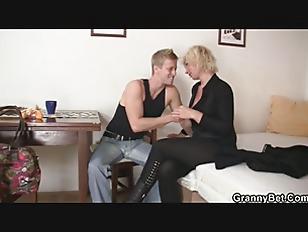 Nice blonde woman pleases neig