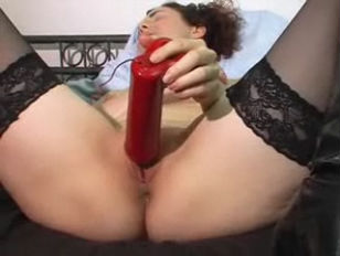 Picture Orgasm With A Red Vibrator