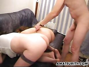 Busty girlfriend anal fuck in