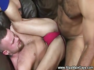 Gay muscle gets is ass rammed