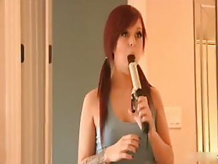 Picture Redhead And A Curling Iron