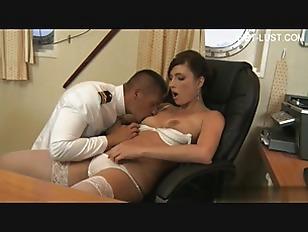 brunette hot babe fuck by navy