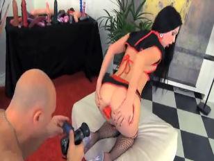 Порно с двойным членом