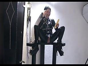 Lovely slave girl fucking hers