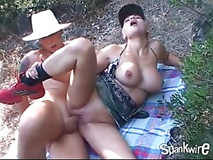 blonde busty chick outdoor fuck