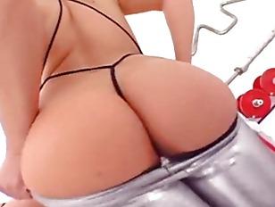 Huge balls in her anus vagina