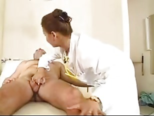 Elena checks how hard her patient is