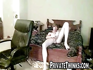 White twink jerking off gets c