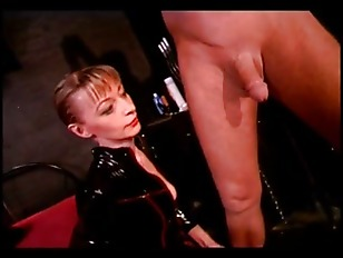 Hot domina taking care of man