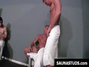 Gays sucking cocks in sauna