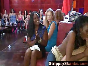 Picture Horny Bitches Going Wild At The Strip Club