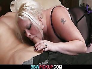 Busty blonde enjoys his hard d