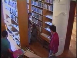 Picture Sexy French Babe In Library
