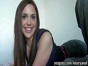 Naughty girlfriend Sabrina Taylor tries out hardcore anal sex