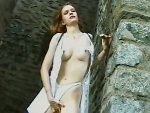 French amateur toying outdoors