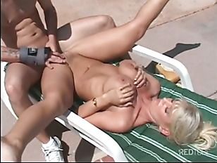 Picture Blond MILF Pool Sunny Banging Young Boy