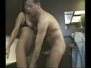 Bathroom sex with matures