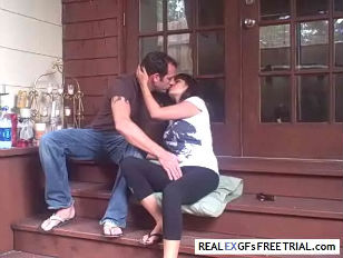 Picture Couple Get Busy On The Stoop