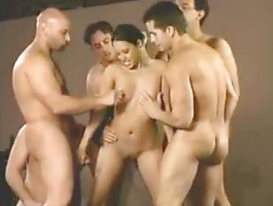 Half a dozen men cum inside on