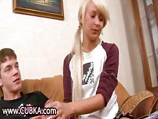 blonde getting shocking hard fuck