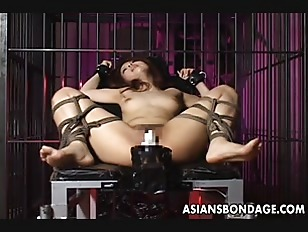 tied machine orgasm