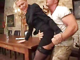 MIlf fucked at the kitchen tab