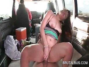 Sex bus amateur hottie taking